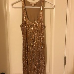 Gold sequin loose fitting dress